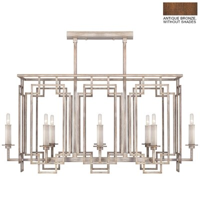 Cienfuegos 8-Light Candle-Style Chandelier Finish: Antique Bronze, Shade Included: No, Size: 20.75 H x 42.25 W x 20.5 D
