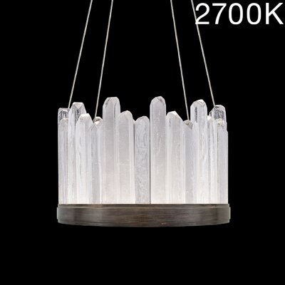 Lior Rock 12-Light Crystal Pendant Finish: Bronze, Color Temperature: 2700
