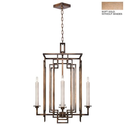 Cienfuegos 4-Light Candle-Style Chandelier Finish: Soft Gold, Shade Included: No, Size: 30.5 H x 22 W x 22 D