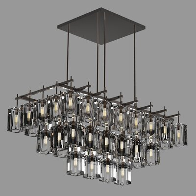 Monceau 40-Light Crystal Chandelier Finish: Bronze