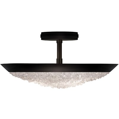 Arctic Halo 3-Light Semi-Flush Mount Fixture Finish: Black