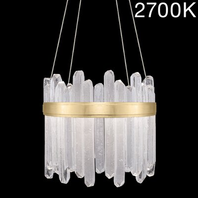 Lior Illuminated Rock 24-Light Crystal Pendant Finish: Gold, Color Temperature: 2700