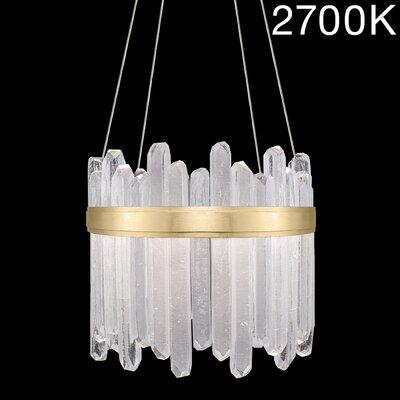 Lior Illuminated Rock 24-Light Crystal Pendant Finish: Gold, Color Temperature: 2700