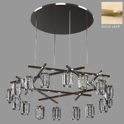 Monceau Sculptural Block 16-Light Chandelier Finish: Gold, Size: 16 H x 66.5 W x 66.5 D