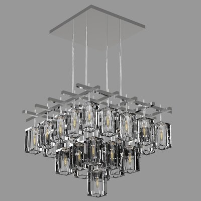 Monceau 25-Light Crystal Chandelier Finish: Silver