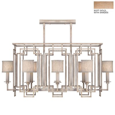 Cienfuegos 8-Light Candle-Style Chandelier Finish: Soft Gold, Shade Included: Yes, Size: 20.75 H x 44 W x 22.25 D