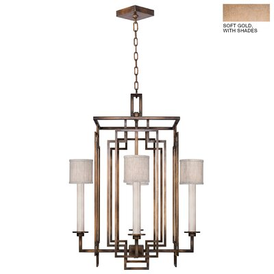 Cienfuegos 4-Light Candle-Style Chandelier Finish: Soft Gold, Shade Included: Yes, Size: 30.5 H x 24 W x 24 D