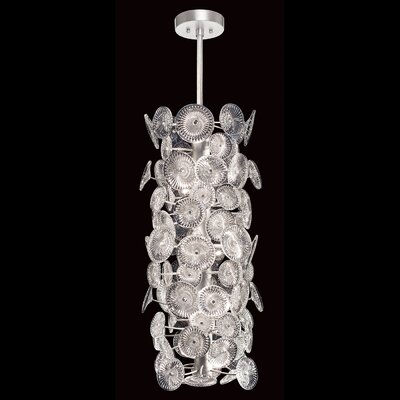 Chrysanthemums Cylinder 14-Light Cluster Pendant