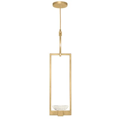Delphi 1-Light Mini Pendant Finish: Gold