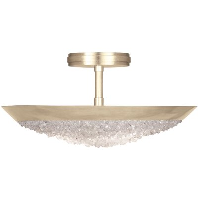 Arctic Halo 3-Light Semi-Flush Mount Fixture Finish: Gold