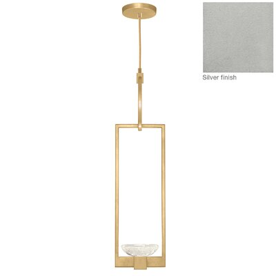 Delphi 1-Light Mini Pendant Finish: Silver
