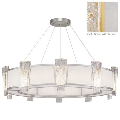 Crownstone 20-Light Drum Chandelier Finish: Gold, Shade Material: Fabric