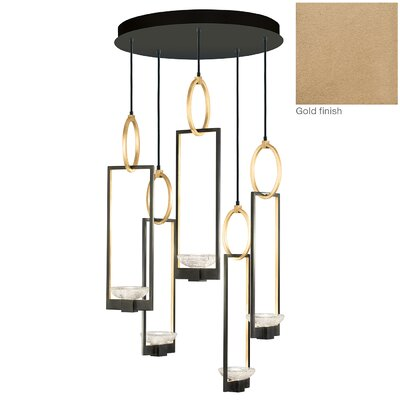 Delphi 5-Light Cluster Pendant Finish: Gold