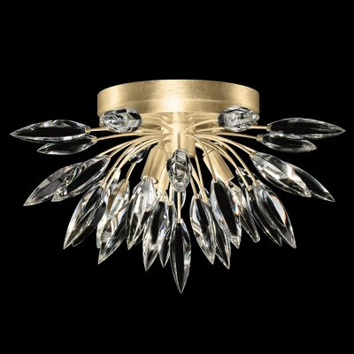 Lily Buds 3-Light Flush Mount Fixture Finish: Gold