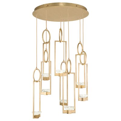 Delphi 8-Light Cluster Pendant Finish: Gold