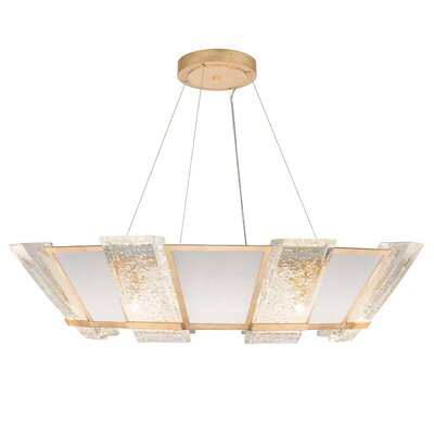 Crownstone 16-Light Candle-Style Chandelier Finish: Gold, Shade Material: Fabric