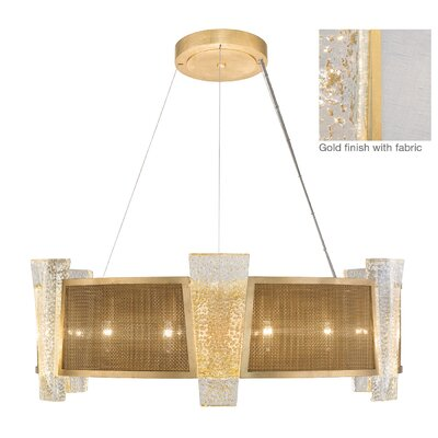 Crownstone 12-Light Drum Chandelier Finish: Gold, Shade Material: Fabric