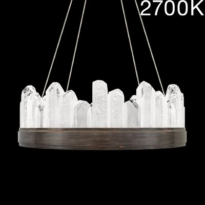 Lior Illuminated Rock 12-Light Crystal Pendant Finish: Bronze, Color Temperature: 2700