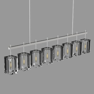 Monceau 8-Light Kitchen Island Pendant Finish: Silver