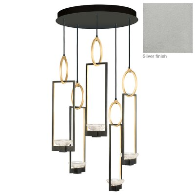 Delphi 5-Light Cluster Pendant Finish: Silver