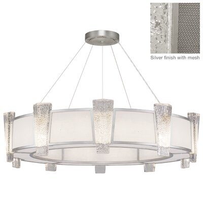 Crownstone 20-Light Drum Chandelier Finish: Silver, Shade Material: Mesh