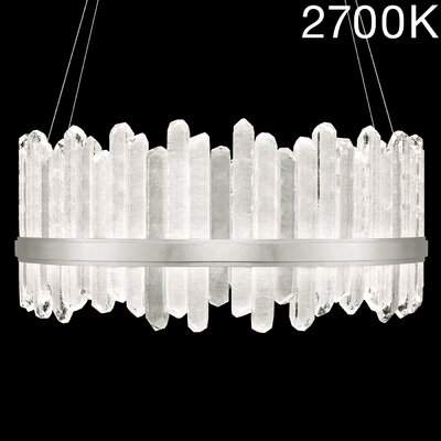 Lior 48-Light Crystal Pendant Finish: Silver, Color Temperature: 2700