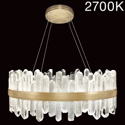 Lior Rock 40-Light Crystal Pendant Finish: Gold, Color Temperature: 2700