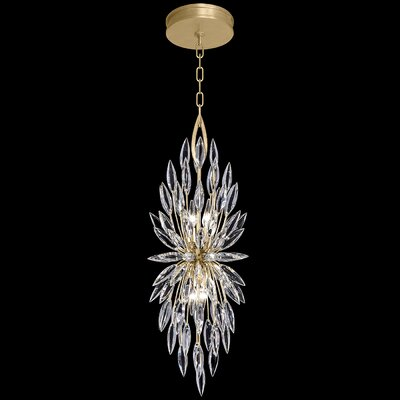 Lily Buds 4-Light Crystal Pendant Finish: Gold