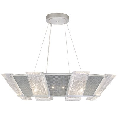 Crownstone 16-Light Candle-Style Chandelier Finish: Silver, Shade Material: Mesh