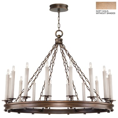 Cienfuegos 16-Light Candle-Style Chandelier Finish: Soft Gold, Shade Included: No, Size: 34 H x 41 W x 41 D
