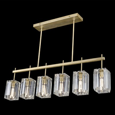 Monceau 6-Light Kitchen Island Pendant Finish: Gold