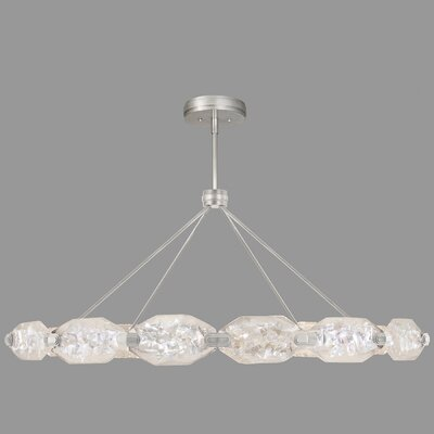 Allison Paladino 24-Light Pendant Finish: Silver, Size: 24 H x 56 W x 56 D