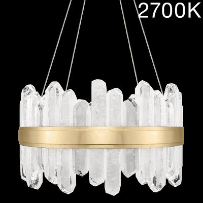 Lior Rock 24-Light Crystal Pendant Finish: Gold, Color Temperature: 2700, Size: 25 H x 21 W x 21 D