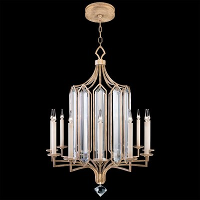 Westminster 12-Light Candle-Style Chandelier Finish: Gold