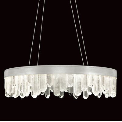 Lior Rock 20-Light Crystal Pendant Finish: Silver