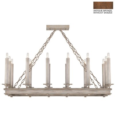 Cienfuegos 14-Light Candle-Style Chandelier Finish: Antique Bronze, Shade Included: No, Size: 16.5 H x 41 W x 18.5 D