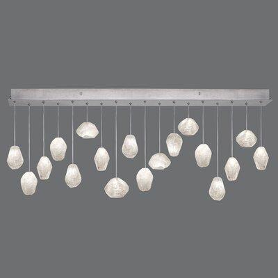 Natural Inspirations Quartz Drop 18-Light Kitchen Island Pendant Finish: Silver