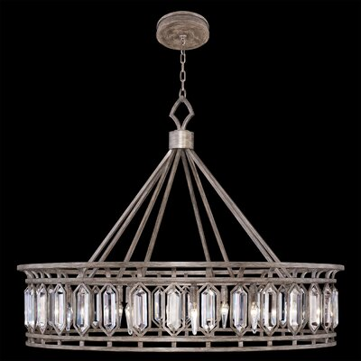 Westminster 12-Light Crystal Pendant Finish: Antique Dark
