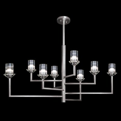 Neuilly 8-Light Sputnik Chandelier Finish: Silver, Size: 23 H x 40 W x 40 D