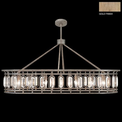 Westminster 14-Light Crystal Pendant Finish: Gold