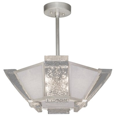 Crownstone 4-Light Semi-Flush Mount Fixture Finish: Silver