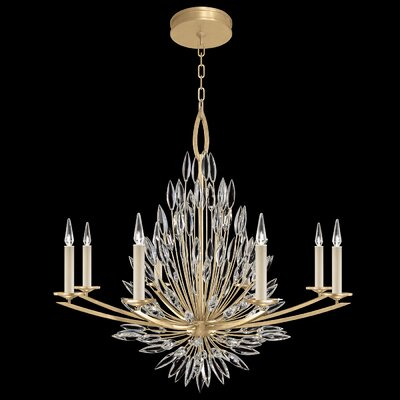Lily Buds 8-Light Candle-Style Chandelier Finish: Gold