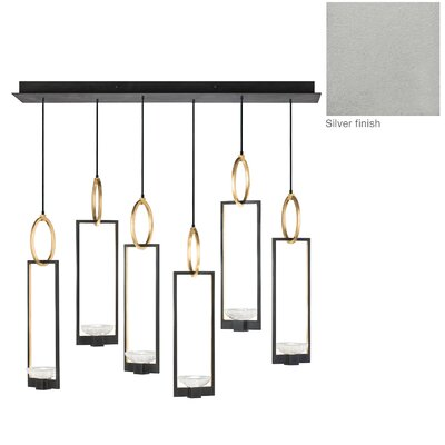 Delphi 6-Light Kitchen Island Pendant Finish: Silver