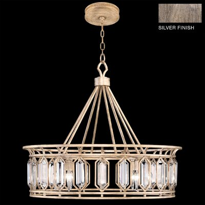 Westminster Round 8-Light Crystal Pendant Finish: Antique Dark