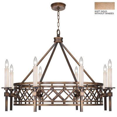 Cienfuegos 8-Light Candle-Style Chandelier Finish: Soft Gold, Shade Included: Yes, Size: 27.5 H x 39 W x 39 D