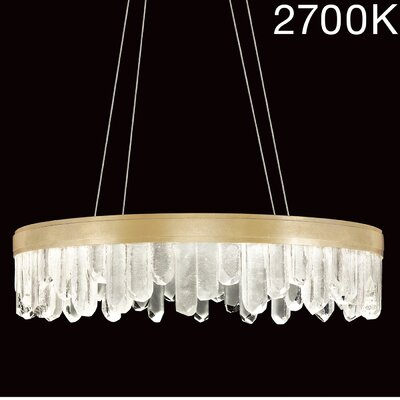 Lior Illuminated Rock 20-Light Crystal Pendant Finish: Gold