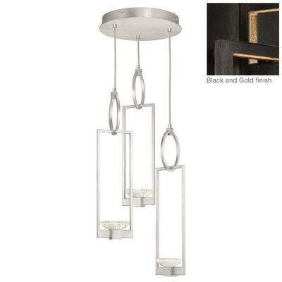Delphi 3-Light Cluster Pendant Finish: Black