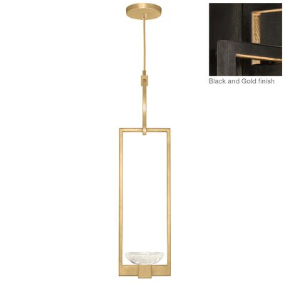 Delphi 1-Light Mini Pendant Finish: Black