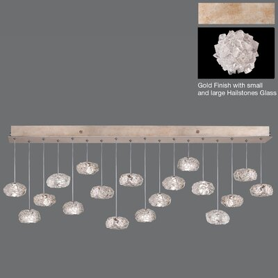 Natural Inspirations Drop 18-Light Kitchen Island Pendant Finish: Gold