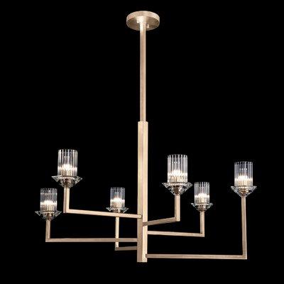 Neuilly 6-Light Sputnik Chandelier Finish: Gold